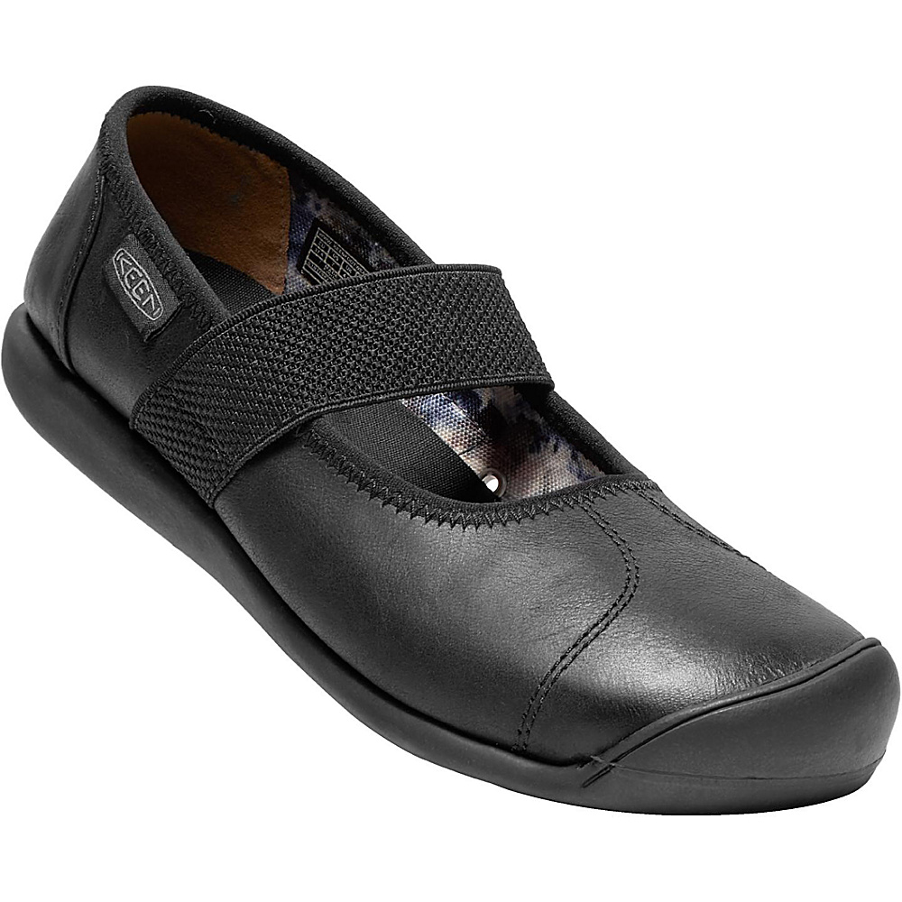KEEN Womens Sienna MJ Leather Slip-On 6 - Monochrome Black - KEEN Womens Footwear - Apparel & Footwear, Women's Footwear