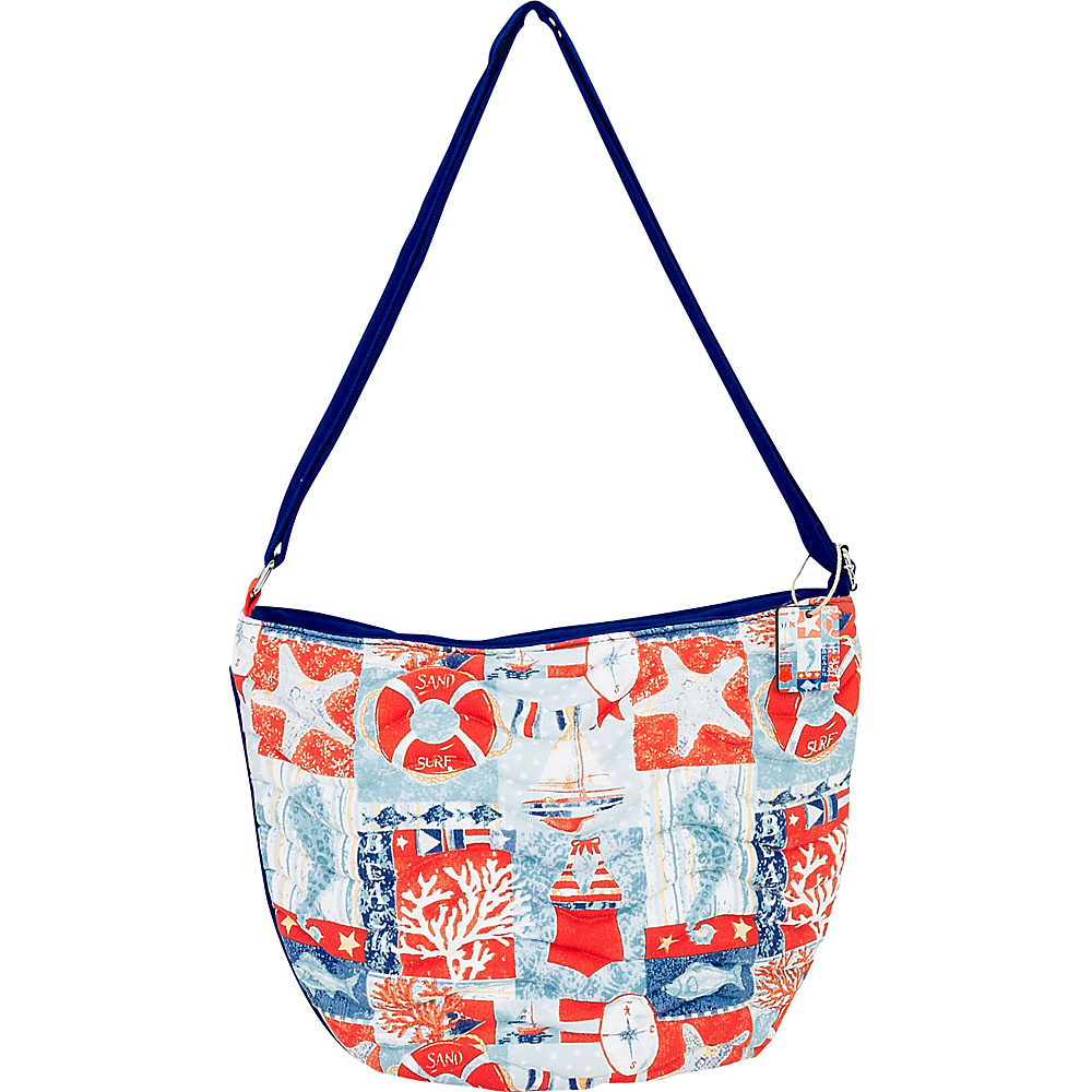 Sun N Sand Sand & Surf Quilted Medium Crossbody Red Multi - Sun N Sand Fabric Handbags - Handbags, Fabric Handbags