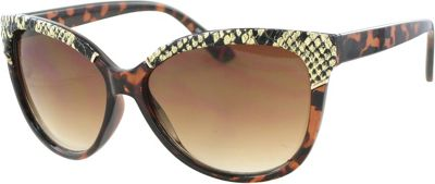 Kay Unger Modified Cateye Sunglasses Tortoise/Gradient Brown Lens - Kay Unger Eyewear