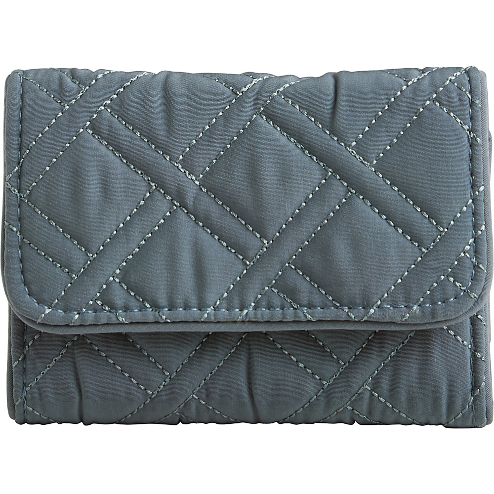 Vera Bradley RFID Riley Compact Wallet-Solids Charcoal - Vera Bradley Designer Ladies Wallets - Ladies Wallets, Designer Ladies Wallets