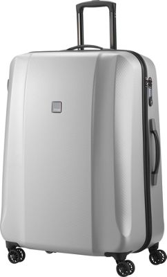 Titan Bags Xenon Deluxe 29 inch Hardside Checked Spinner Luggage Silver - Titan Bags Large Rolling Luggage