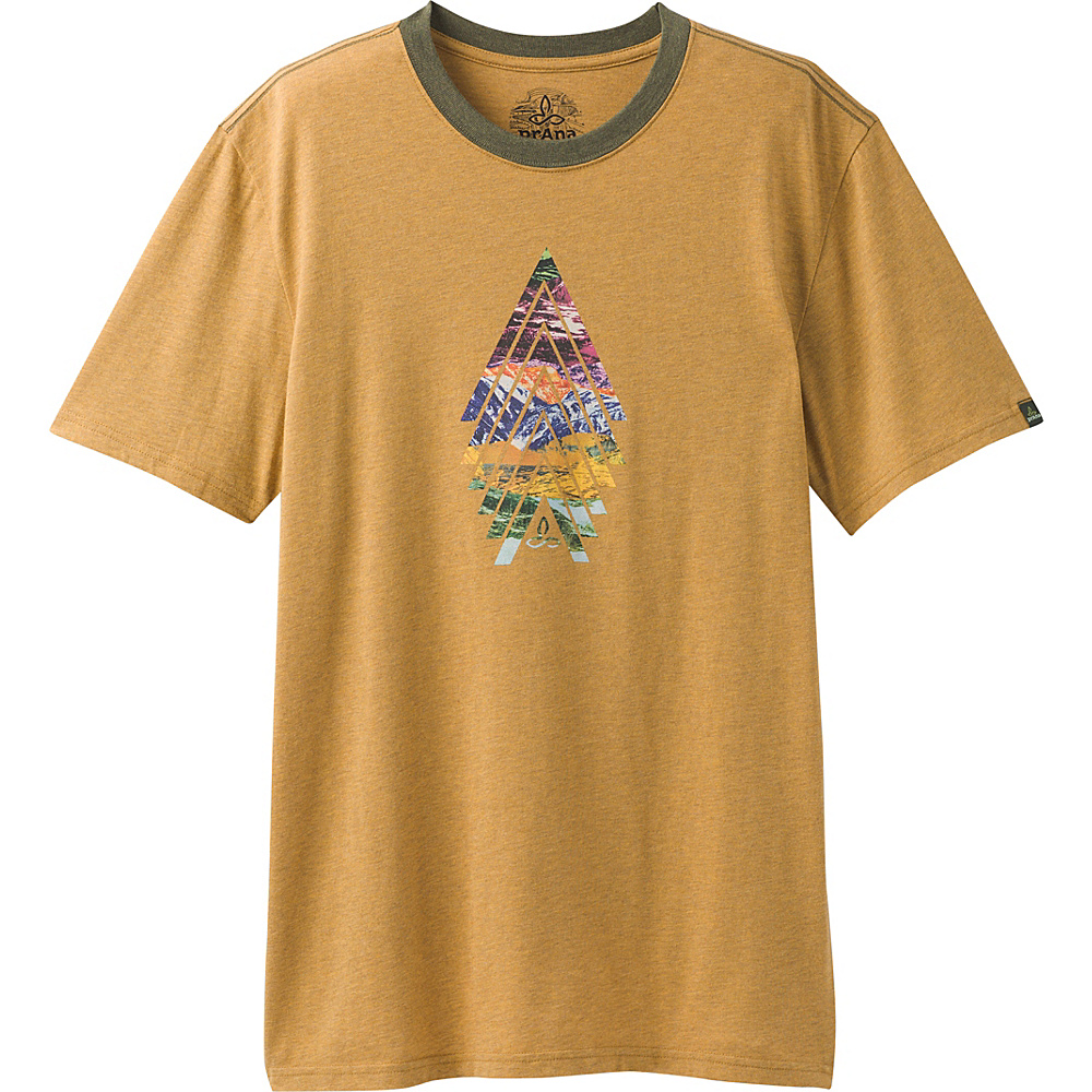PrAna North Bound Ringer T-Shirt XL - Bronze - PrAna Mens Apparel - Apparel & Footwear, Men's Apparel