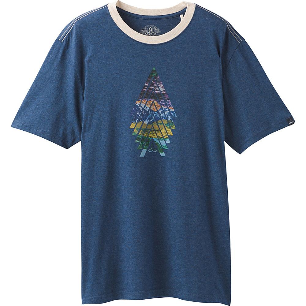 PrAna North Bound Ringer T-Shirt M - Dusk Blue - PrAna Mens Apparel - Apparel & Footwear, Men's Apparel