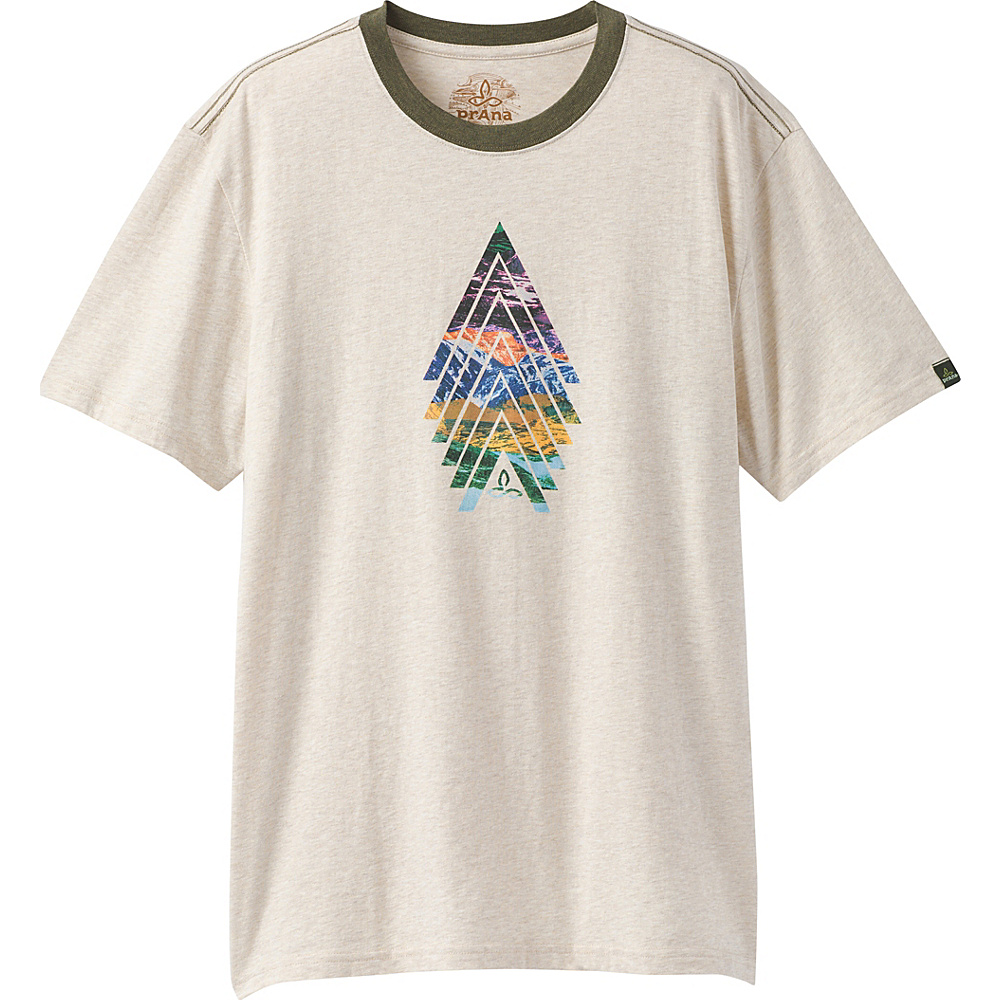 PrAna North Bound Ringer T-Shirt M - Stone - PrAna Mens Apparel - Apparel & Footwear, Men's Apparel