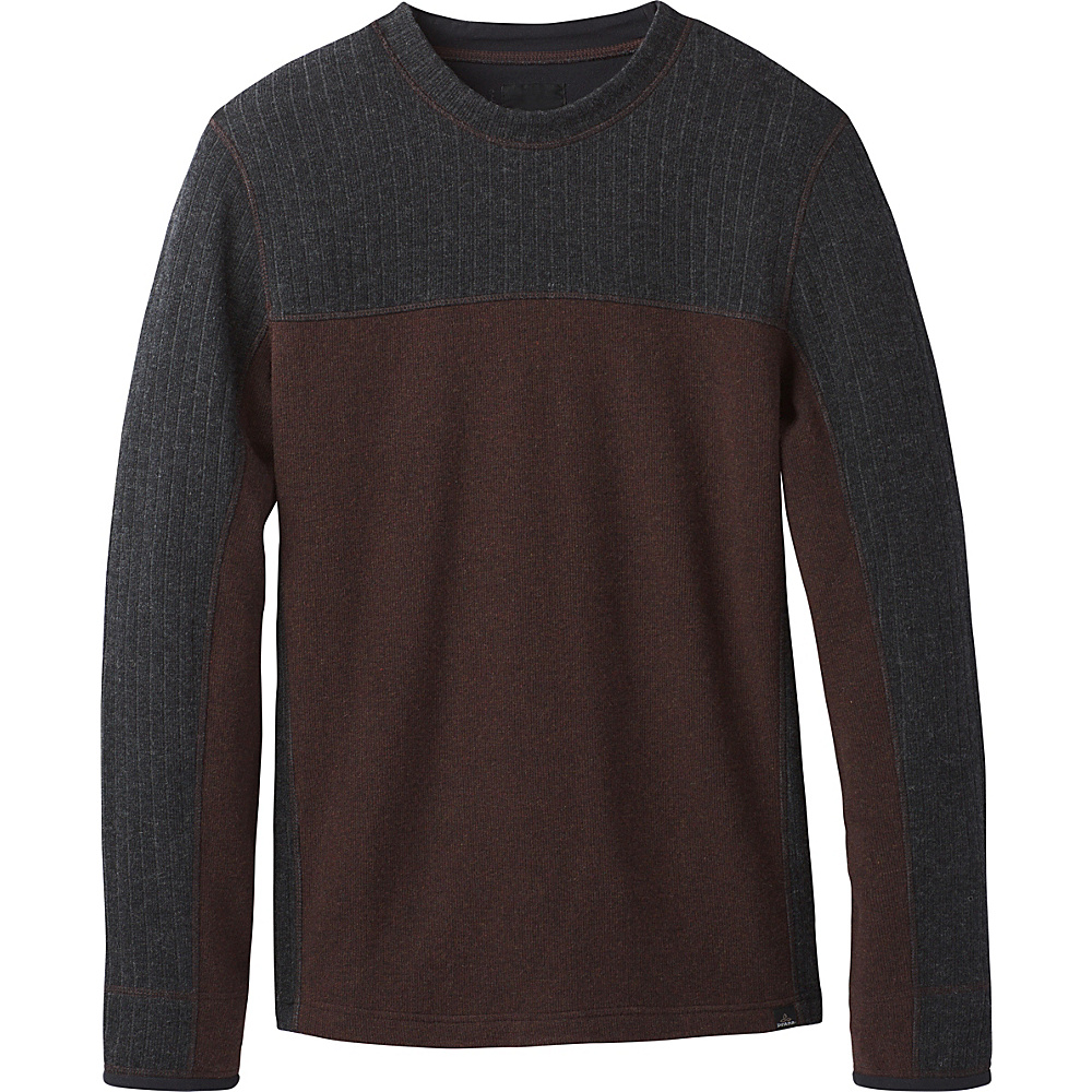 PrAna Wentworth Crew L - Cocoa - PrAna Mens Apparel - Apparel & Footwear, Men's Apparel