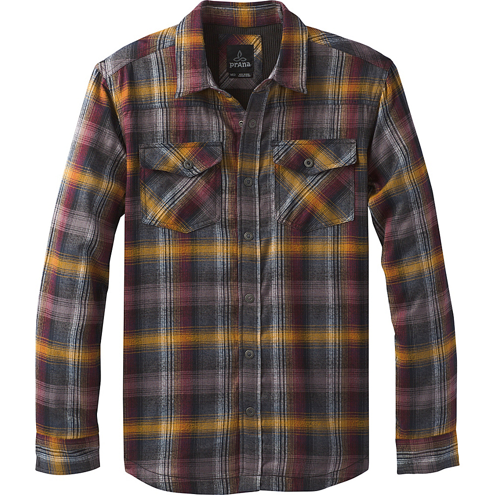 PrAna Asylum Flannel Shirt L - Black - PrAna Mens Apparel - Apparel & Footwear, Men's Apparel