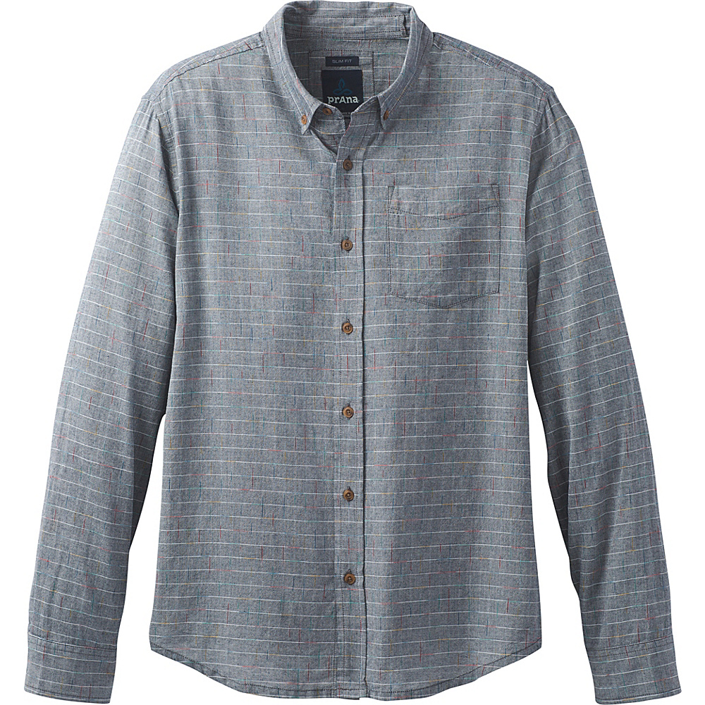 PrAna Broderick Long Sleeve Shirt M - Nautical - PrAna Mens Apparel - Apparel & Footwear, Men's Apparel