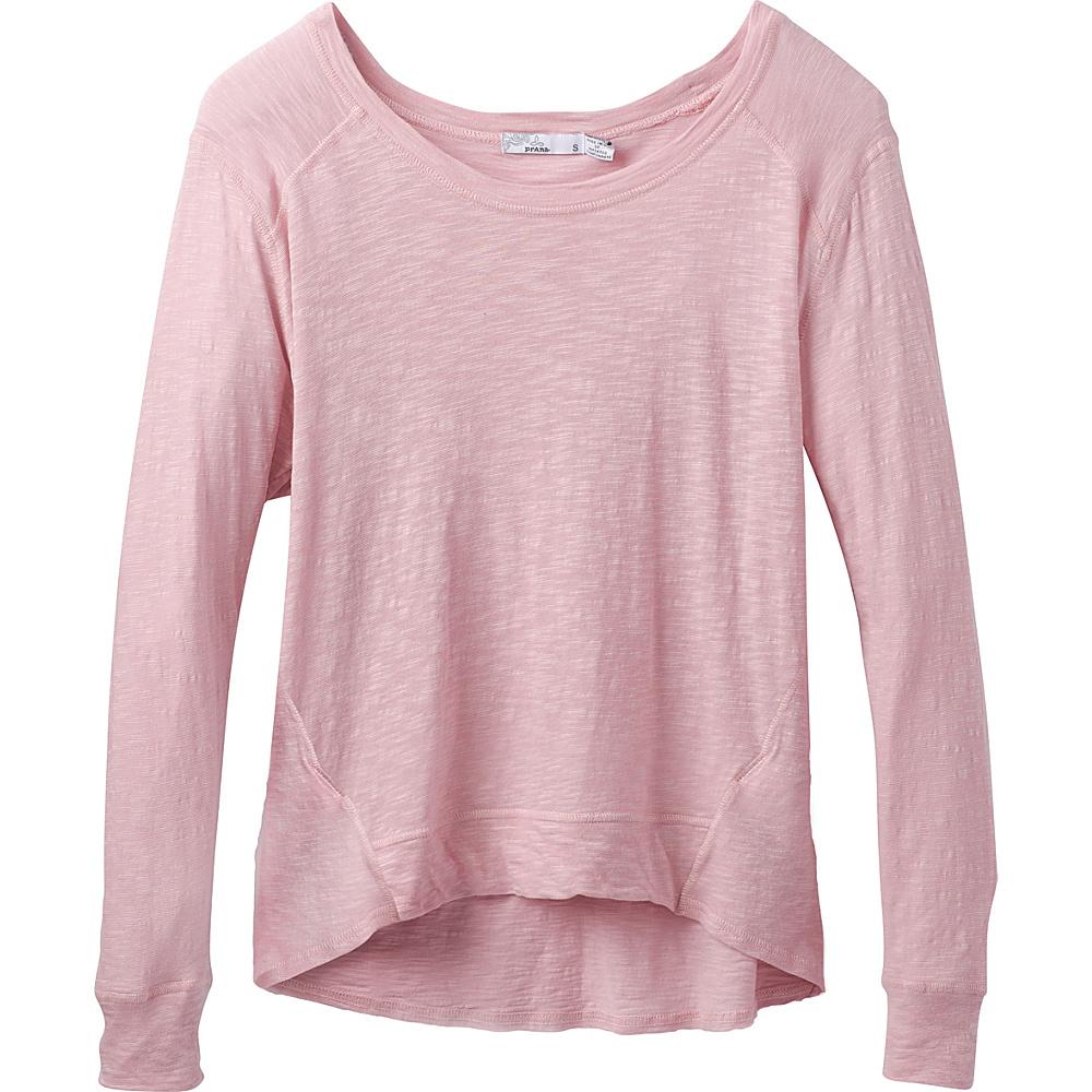 PrAna Fallbrook Sheer Top L - Blushed - PrAna Womens Apparel - Apparel & Footwear, Women's Apparel