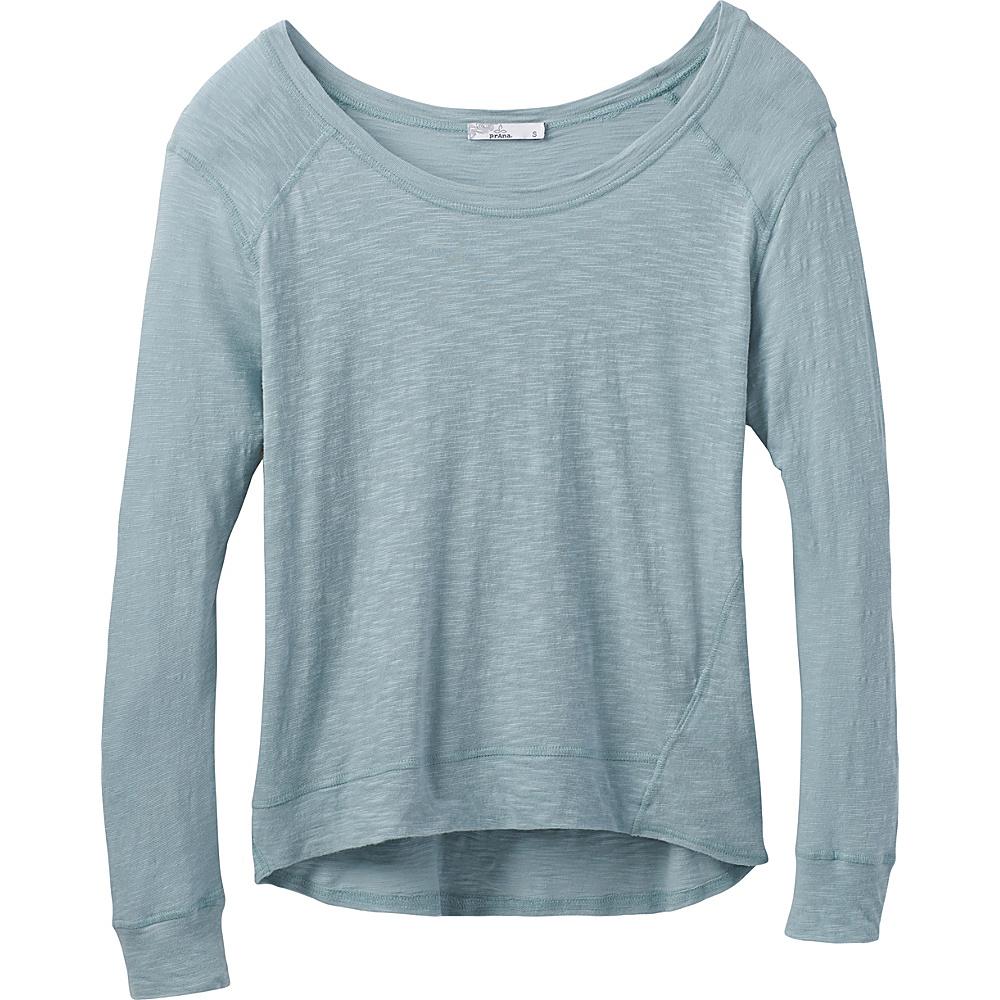 PrAna Fallbrook Sheer Top L - Storm Blue - PrAna Womens Apparel - Apparel & Footwear, Women's Apparel