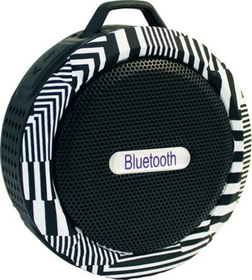 Yell by Voguestrap Fashion Printed Water Resistant Suction Bluetooth Speaker Black - Yell by Voguestrap Headphones & Speakers
