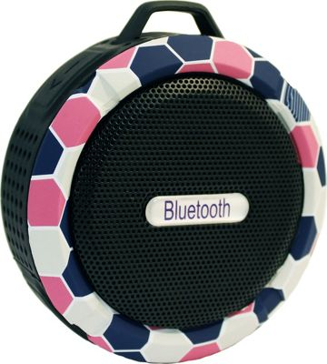 Yell by Voguestrap Fashion Printed Water Resistant Suction Bluetooth Speaker Pink - Yell by Voguestrap Headphones & Speakers