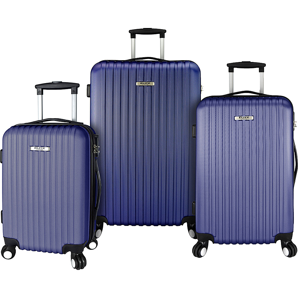 Elite Luggage Davis 3 Piece Lightweight Hardside Luggage Set NEW ...