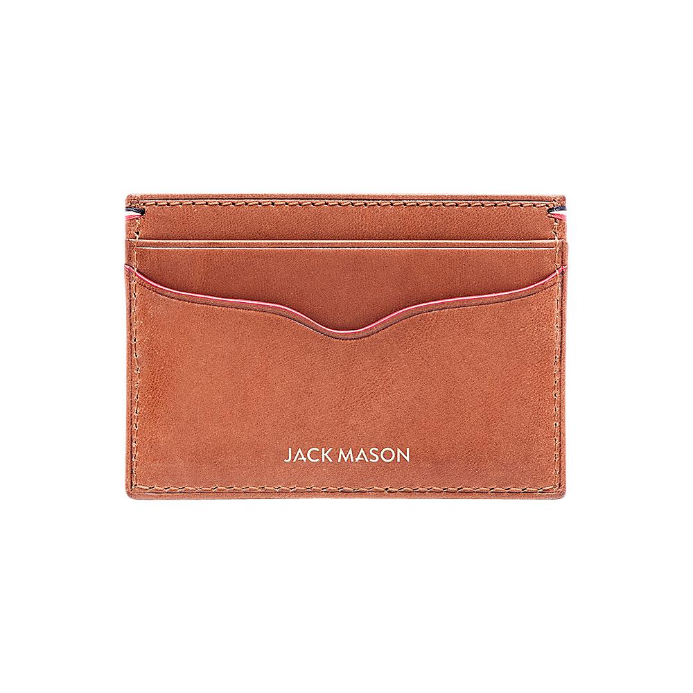 Jack Mason League Mens Leather Card Case Tan - Jack Mason League Mens Wallets - Work Bags & Briefcases, Men's Wallets