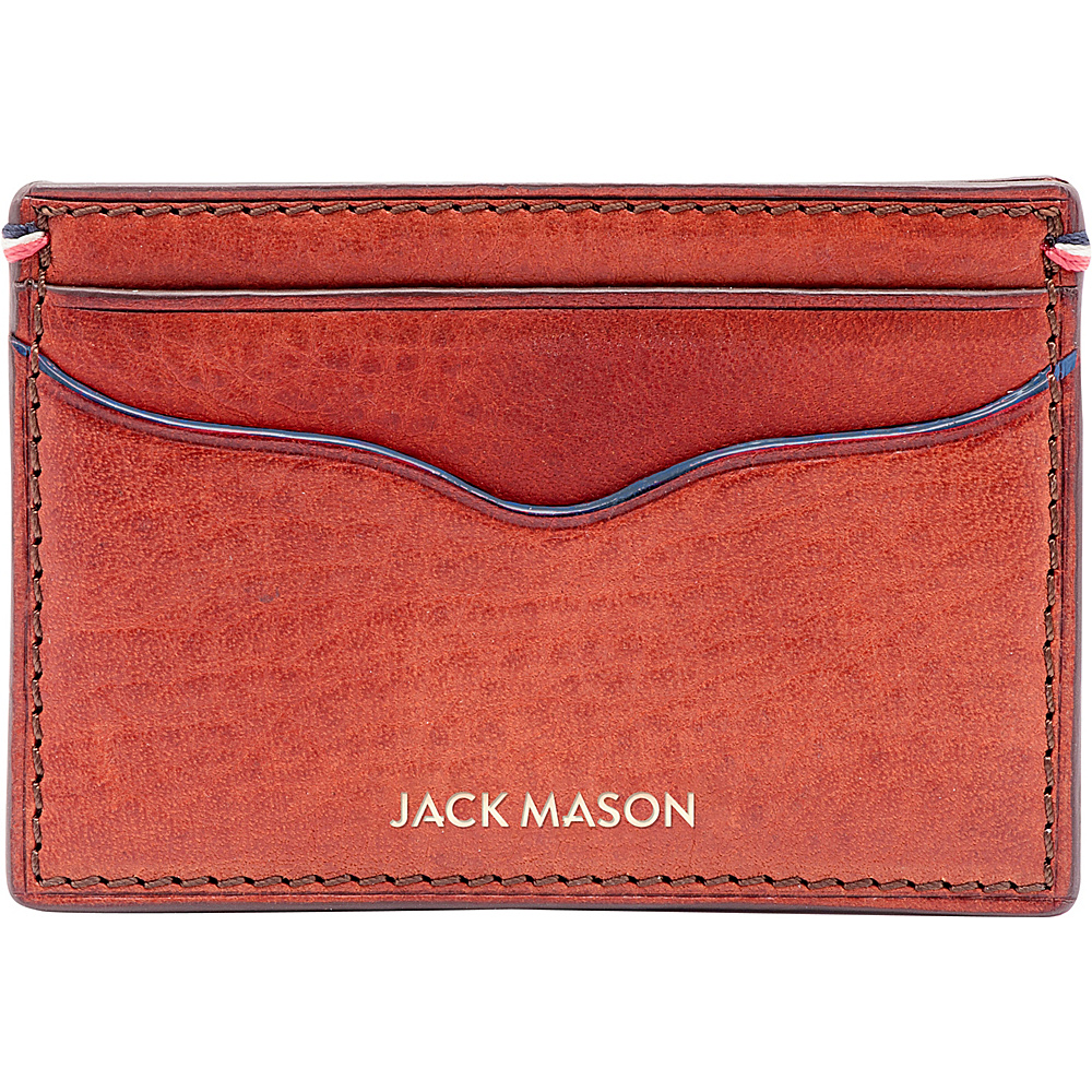 Jack Mason League Mens Leather Card Case Orange - Jack Mason League Mens Wallets - Work Bags & Briefcases, Men's Wallets