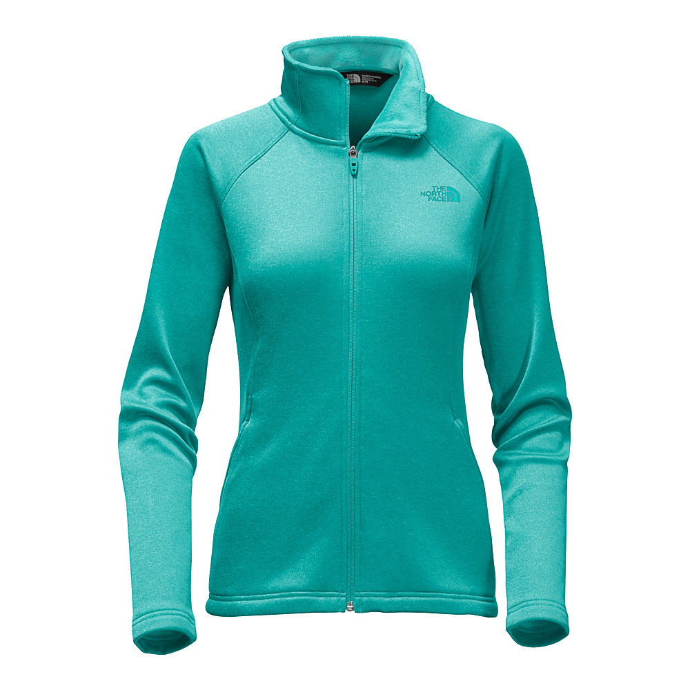 The North Face Womens Agave Full Zip XXL - Harbor Blue Heather - The North Face Womens Apparel - Apparel & Footwear, Women's Apparel
