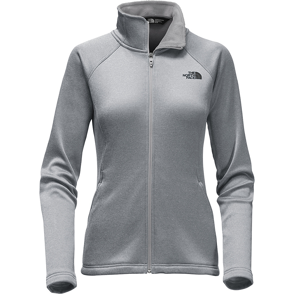 The North Face Womens Agave Full Zip L - TNF Medium Grey Heather - The North Face Womens Apparel - Apparel & Footwear, Women's Apparel