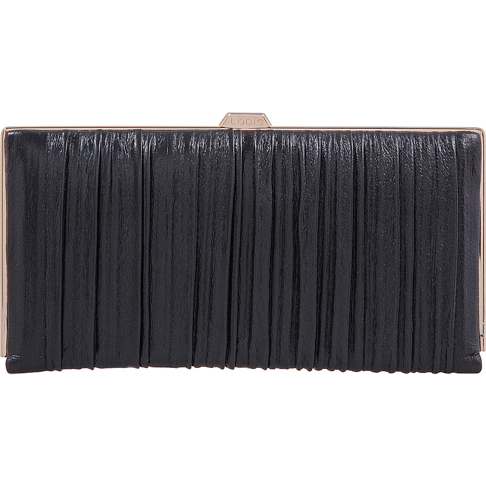 Lodis Pleasantly Pleated RFID Quinn Clutch Wallet Black - Lodis Womens Wallets - Women's SLG, Women's Wallets