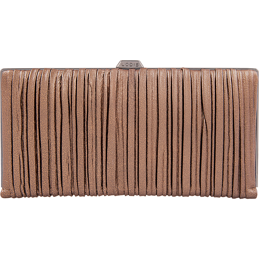 Lodis Pleasantly Pleated RFID Quinn Clutch Wallet Copper - Lodis Womens Wallets - Women's SLG, Women's Wallets