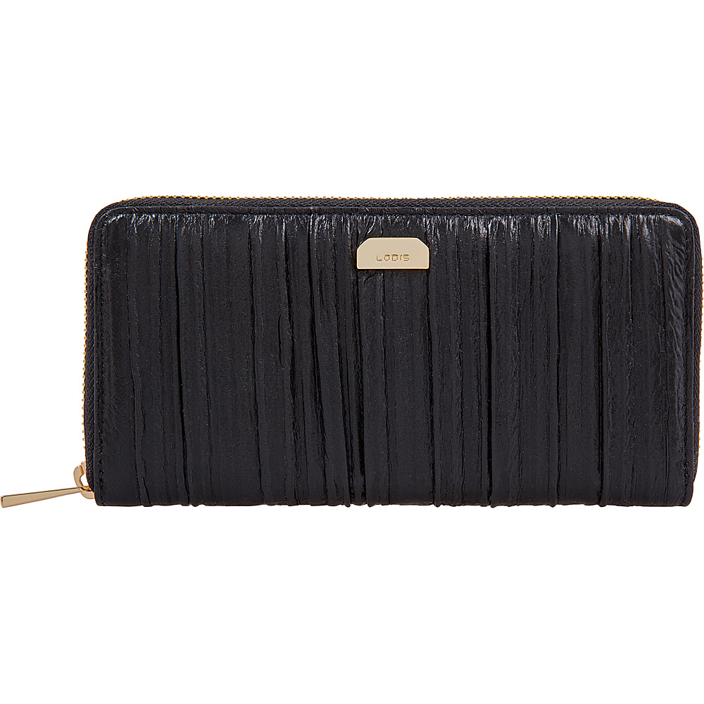 Lodis Pleasantly Pleated RFID Joya Wallet Black - Lodis Womens Wallets - Women's SLG, Women's Wallets