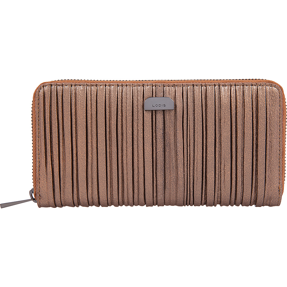 Lodis Pleasantly Pleated RFID Joya Wallet Copper - Lodis Womens Wallets - Women's SLG, Women's Wallets