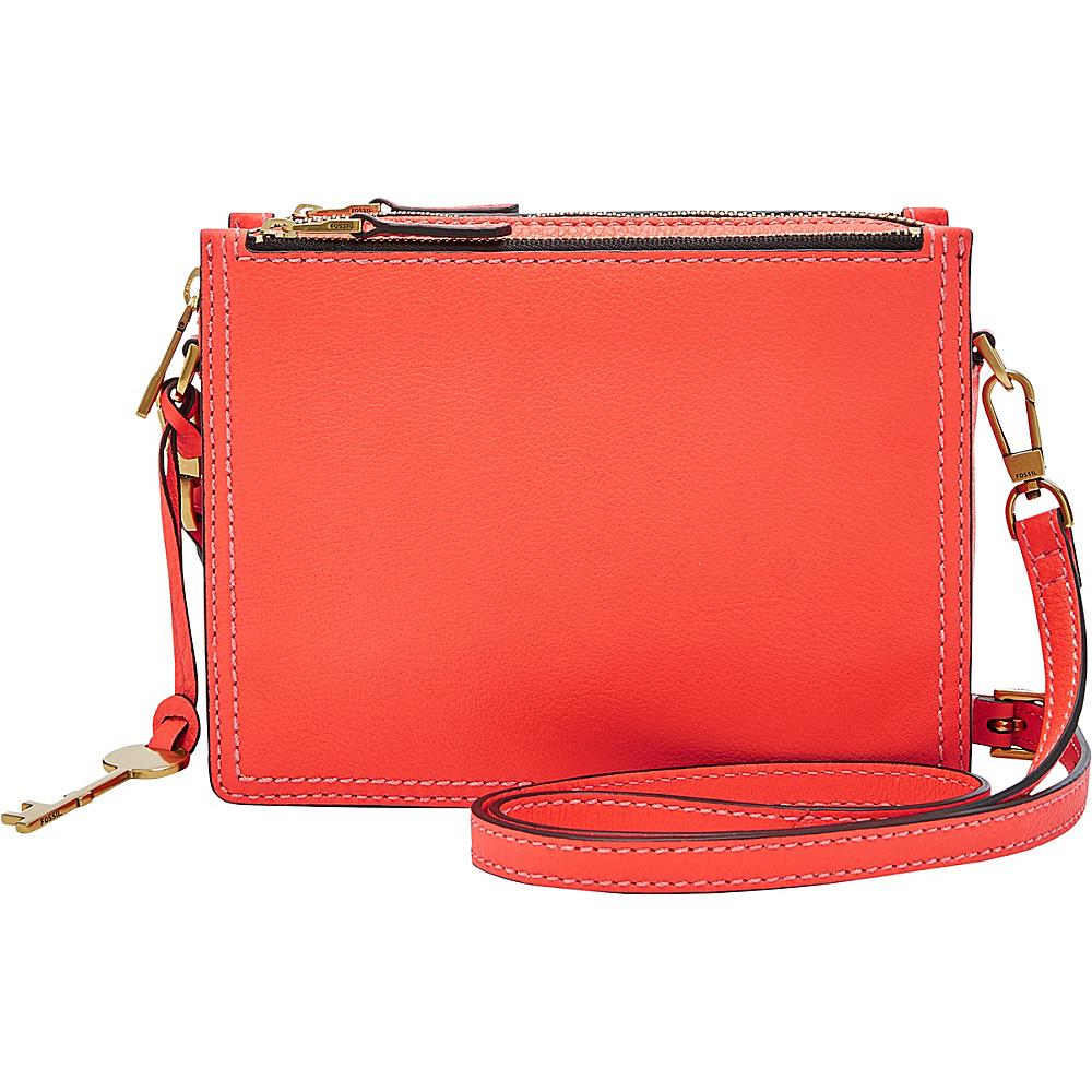 Fossil Campbell Crossbody Orange(826) - Fossil Leather Handbags - Handbags, Leather Handbags