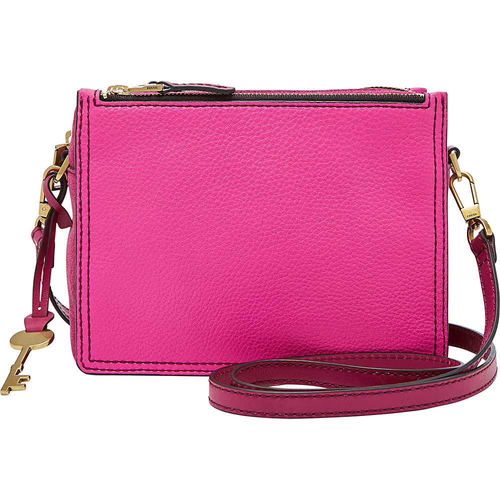 Fossil Campbell Crossbody Hot Pink - Fossil Leather Handbags - Handbags, Leather Handbags