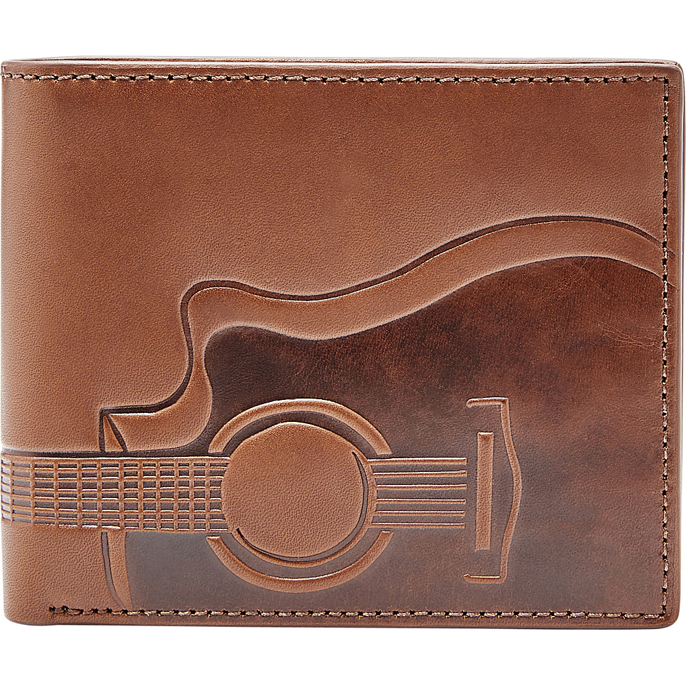 Fossil Nash RFID Large Coin Pocket Bifold Cognac - Fossil Mens Wallets - Work Bags & Briefcases, Men's Wallets