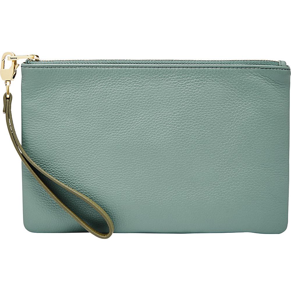Fossil RFID Wristlet Steel Blue - Fossil Designer Handbags - Handbags, Designer Handbags