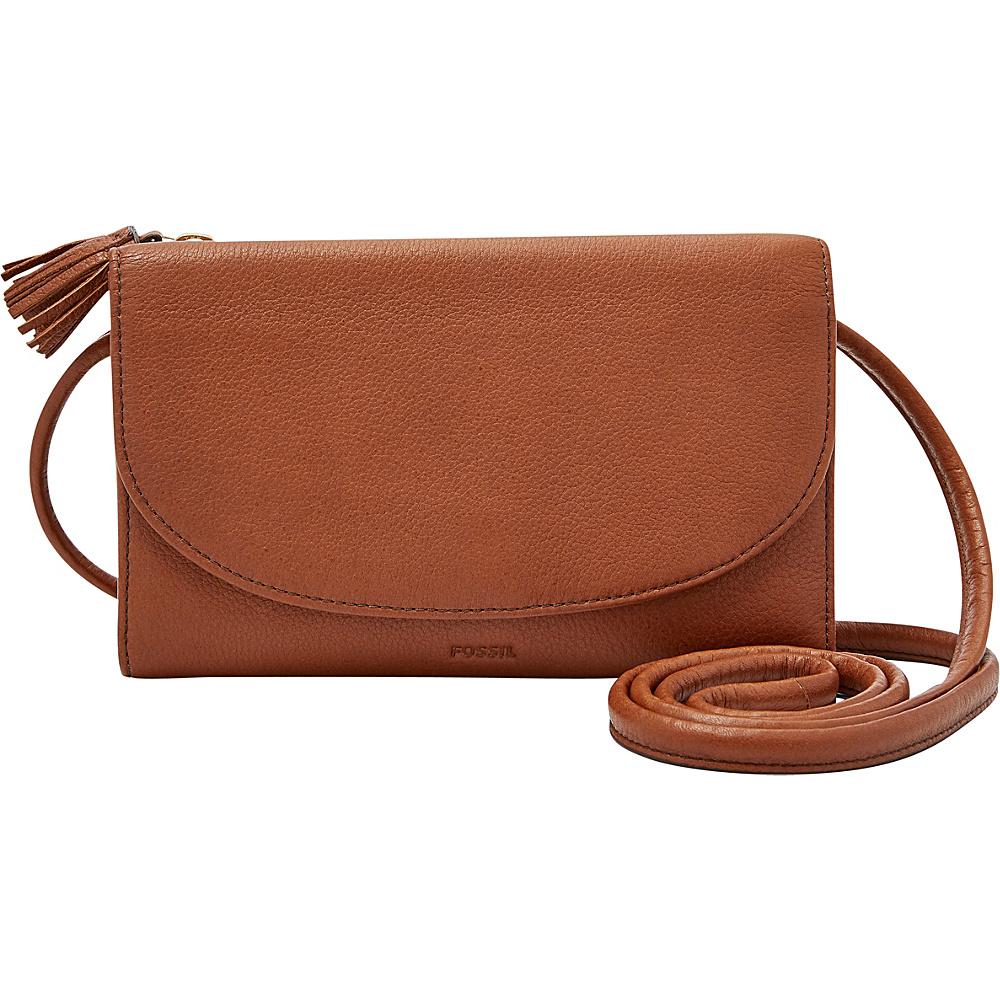 Fossil Sophia Wallet Crossbody Brown - Fossil Designer Handbags - Handbags, Designer Handbags