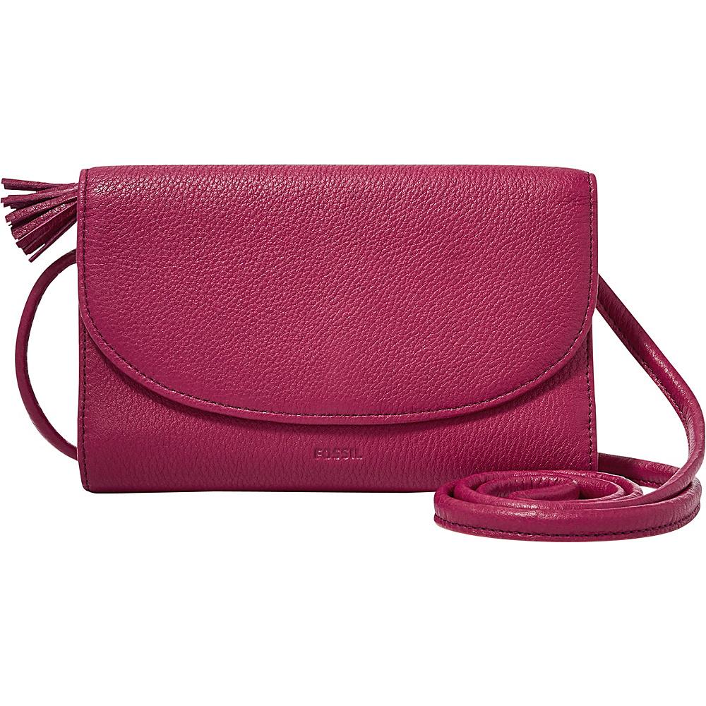 Fossil Sophia Wallet Crossbody Raspberry Wine - Fossil Designer Handbags - Handbags, Designer Handbags