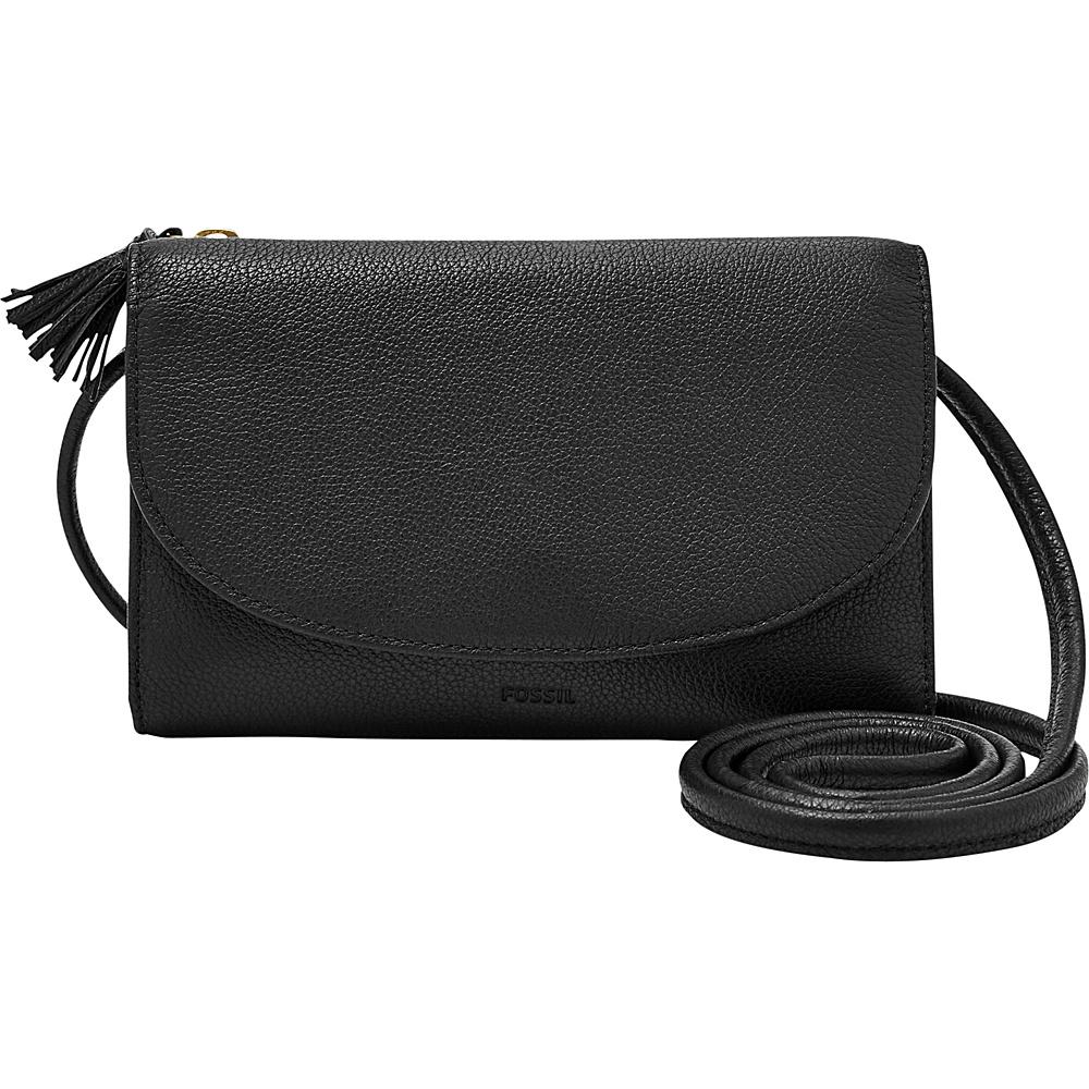 Fossil Sophia Wallet Crossbody Black - Fossil Designer Handbags - Handbags, Designer Handbags