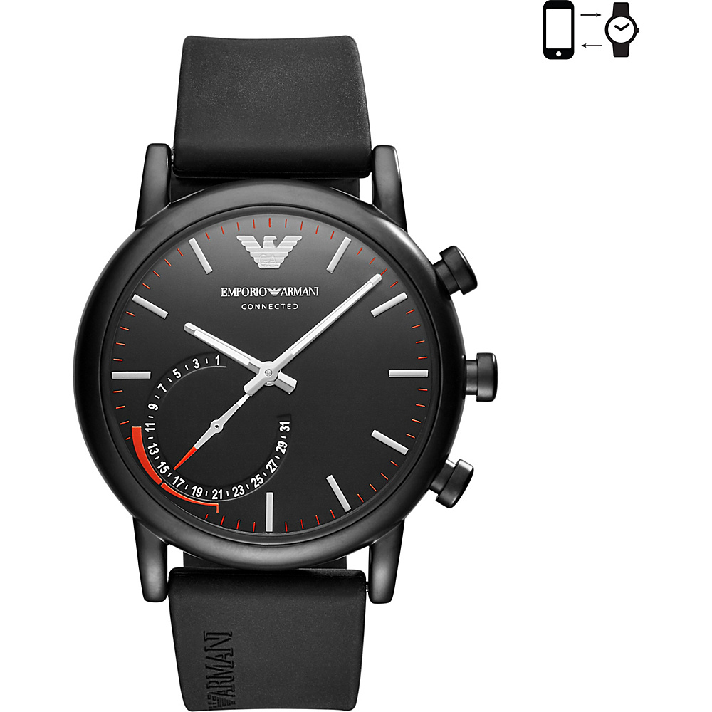 Emporio Armani Hybrid Smartwatch Black - Emporio Armani Wearable Technology