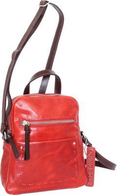Nino Bossi Kayla Small Crossbody Bag Tomato - Nino Bossi Leather Handbags