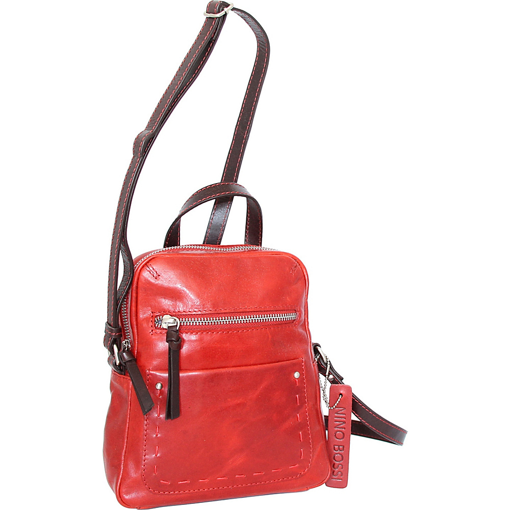 Nino Bossi Kayla Small Crossbody Bag Tomato - Nino Bossi Leather Handbags - Handbags, Leather Handbags