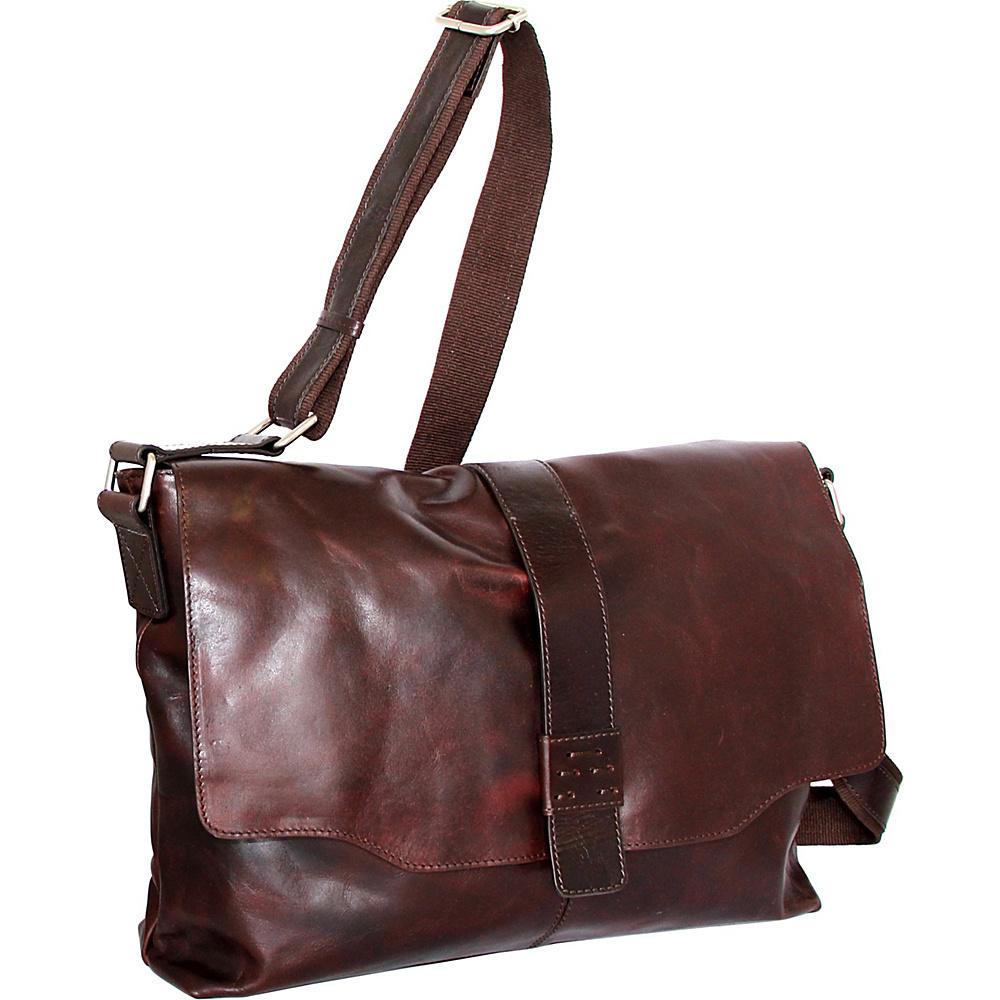 Nino Bossi Lorena Large Messenger Bag Chestnut - Nino Bossi Messenger Bags - Work Bags & Briefcases, Messenger Bags