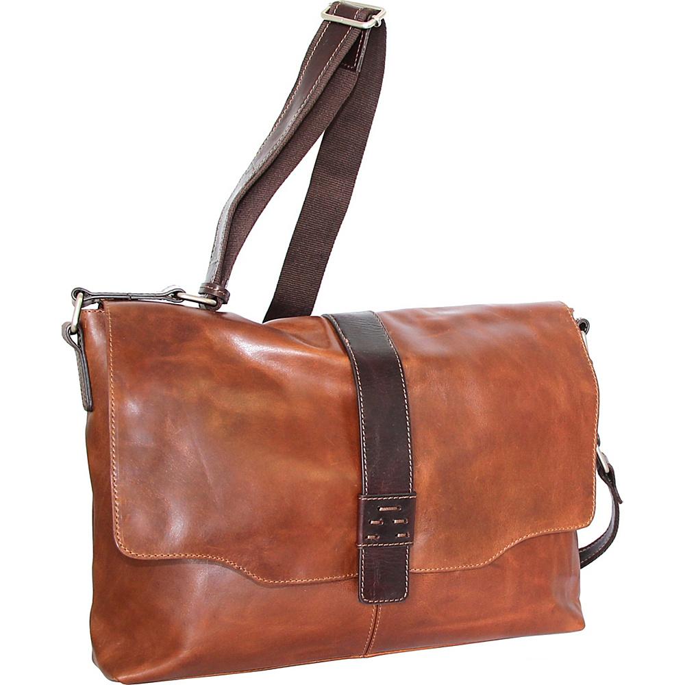 Nino Bossi Lorena Large Messenger Bag Cognac - Nino Bossi Messenger Bags - Work Bags & Briefcases, Messenger Bags