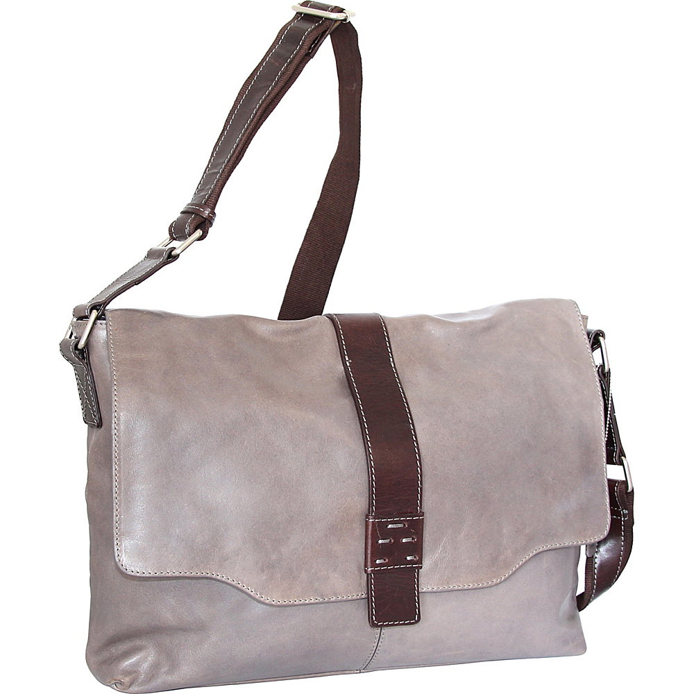 Nino Bossi Lorena Large Messenger Bag Stone - Nino Bossi Messenger Bags - Work Bags & Briefcases, Messenger Bags