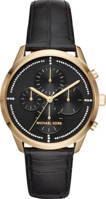 Michael Kors Watches Slater Chronograph Watch Black - Michael Kors Watches Watches