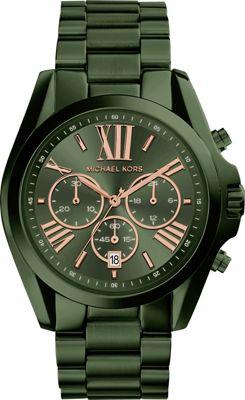 Michael Kors Watches Bradshaw Chronograph Watch Green - Michael Kors Watches Watches