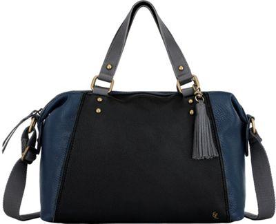 Elliott Lucca Corina Satchel Indigo Block - Elliott Lucca Designer Handbags