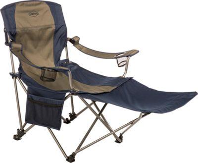 Kamp Rite Chair with Detachable Footrest Blue / Khaki - Kamp Rite Outdoor Accessories