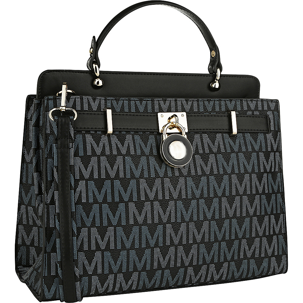 MKF Collection by Mia K. Farrow Blayna M Signature Satchel Black - MKF Collection by Mia K. Farrow Manmade Handbags - Handbags, Manmade Handbags
