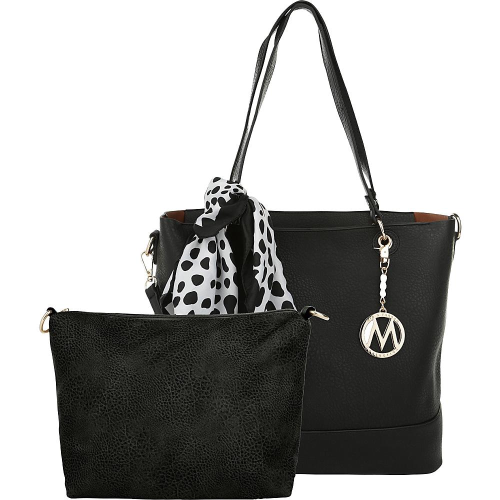 MKF Collection by Mia K. Farrow Destiny 2-1 Tote Black - MKF Collection by Mia K. Farrow Manmade Handbags - Handbags, Manmade Handbags
