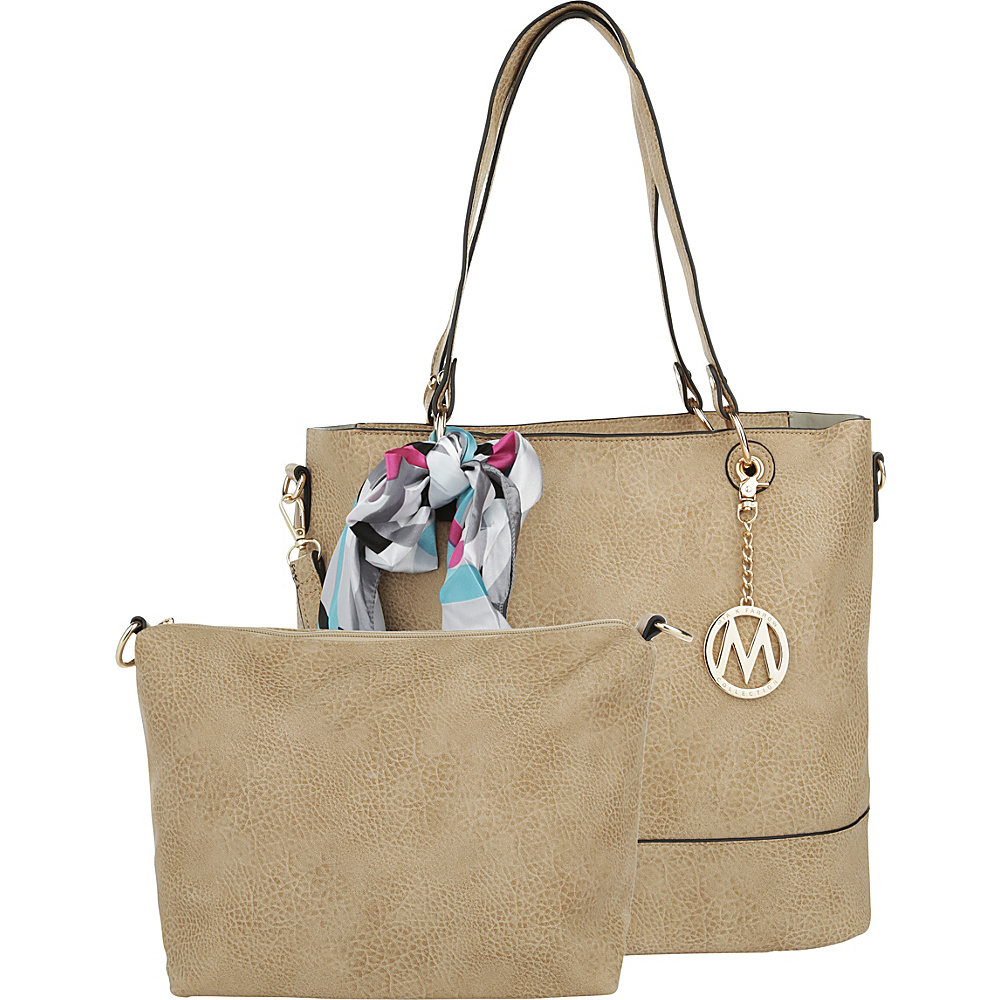 MKF Collection by Mia K. Farrow Destiny 2-1 Tote Camel - MKF Collection by Mia K. Farrow Manmade Handbags - Handbags, Manmade Handbags