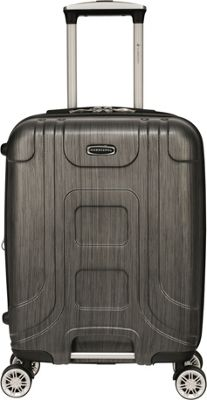 Gabbiano Provence 20 inch Expandable Carry-On Hardside Spinner Luggage Black - Gabbiano Hardside Carry-On