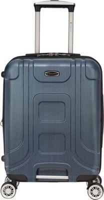 Gabbiano Provence 20 inch Expandable Carry-On Hardside Spinner Luggage Blue - Gabbiano Hardside Carry-On