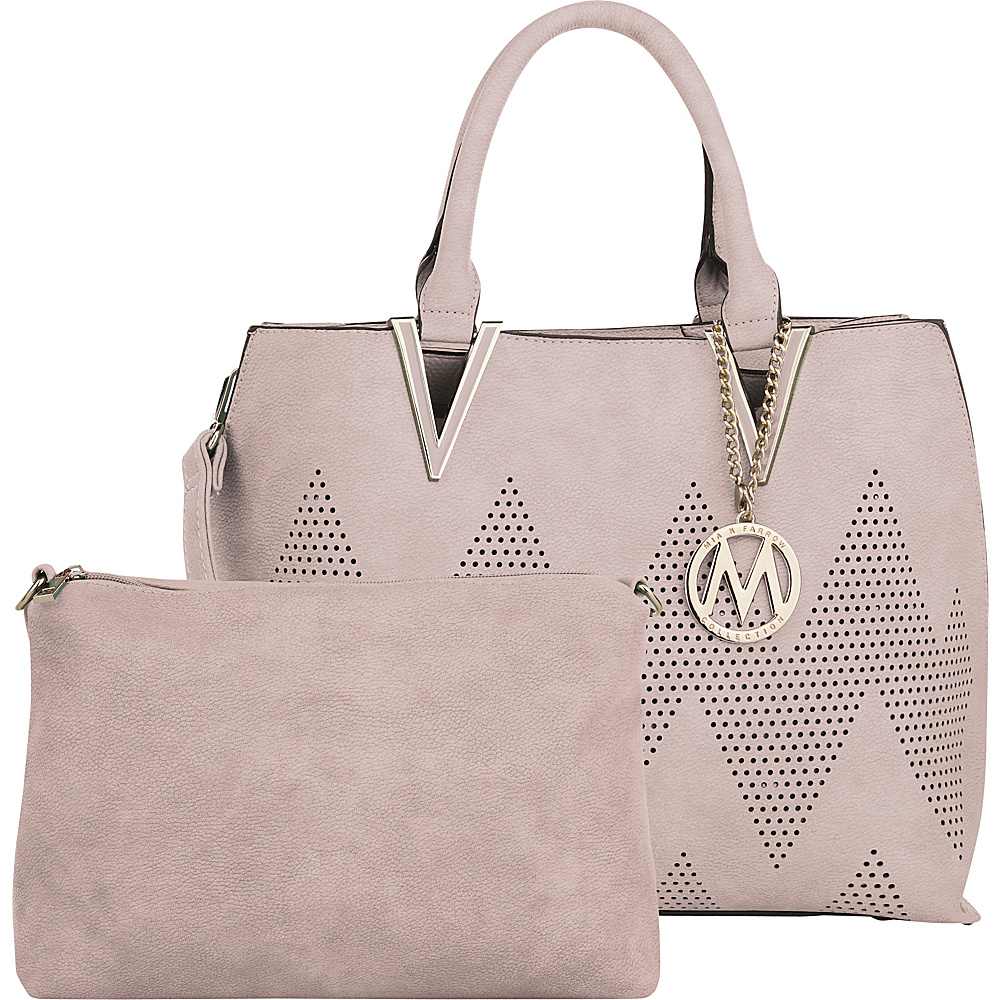 MKF Collection by Mia K. Farrow Mercy 2 in 1 Satchel Pink - MKF Collection by Mia K. Farrow Manmade Handbags - Handbags, Manmade Handbags