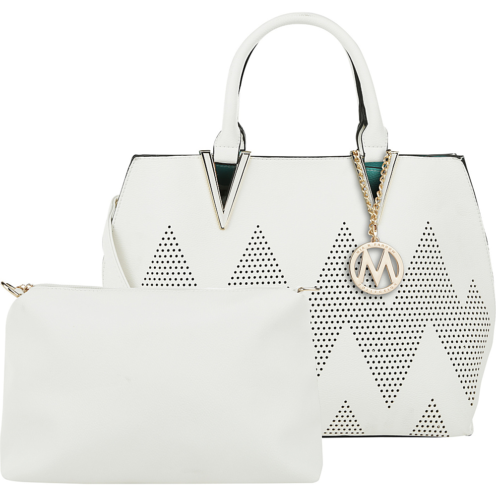 MKF Collection by Mia K. Farrow Mercy 2 in 1 Satchel White - MKF Collection by Mia K. Farrow Manmade Handbags - Handbags, Manmade Handbags