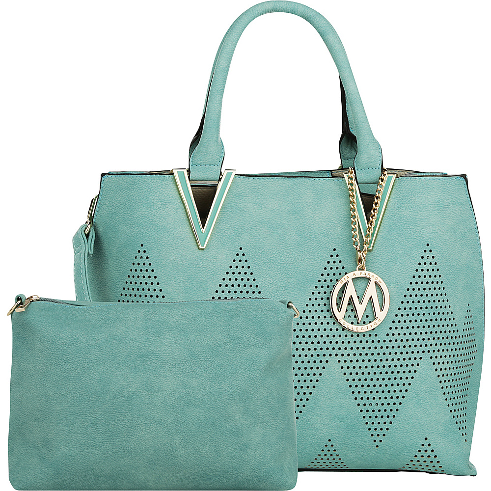 MKF Collection by Mia K. Farrow Mercy 2 in 1 Satchel Seafoam - MKF Collection by Mia K. Farrow Manmade Handbags - Handbags, Manmade Handbags