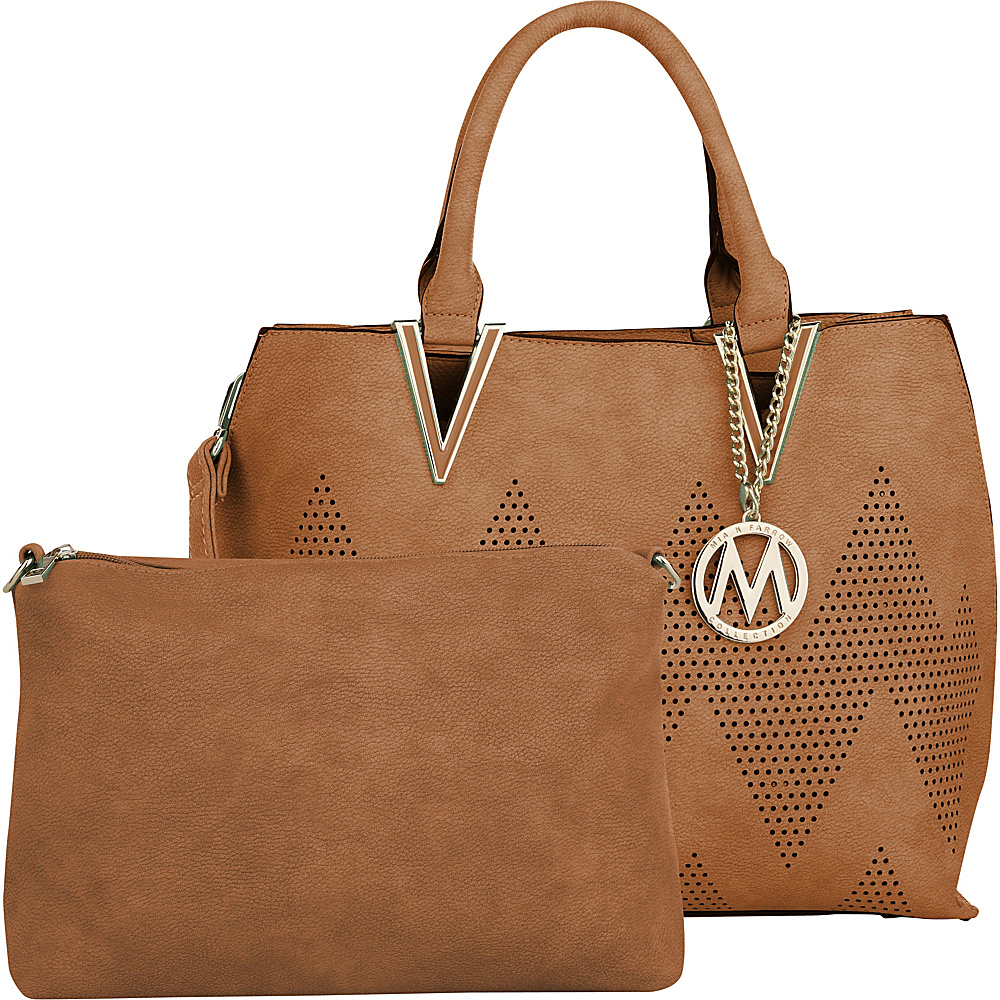 MKF Collection by Mia K. Farrow Mercy 2 in 1 Satchel Brown - MKF Collection by Mia K. Farrow Manmade Handbags - Handbags, Manmade Handbags